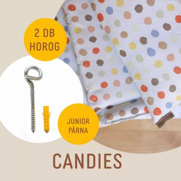 Candies junior hinta párna + 2 darab horog