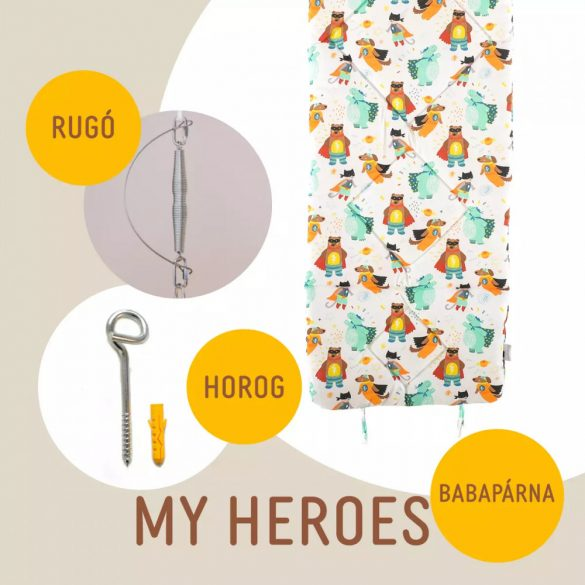 My Heroes babahinta párna + rugó + horog